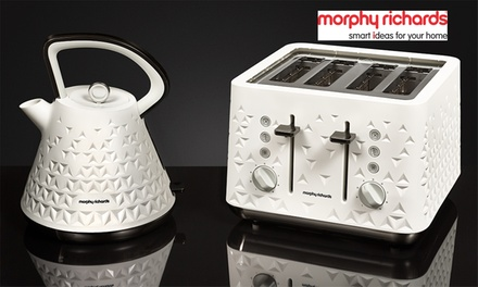 $179 for a Morphy Richards PrismDesign Toaster and Kettle Bundle in Black or White Don't Pay $286.95