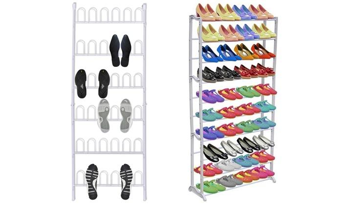 porte chaussures mural ou vertical groupon. Black Bedroom Furniture Sets. Home Design Ideas