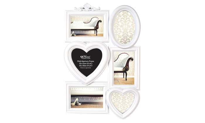 ornate heart collage photo frame