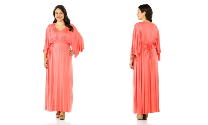 Womens Maxi Dress In Plus Sizes Groupon Goods