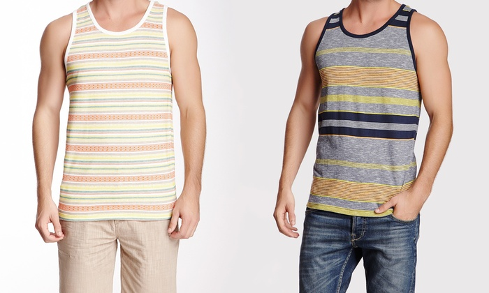 814827ee40d04 Micros Men s Striped Tank Top