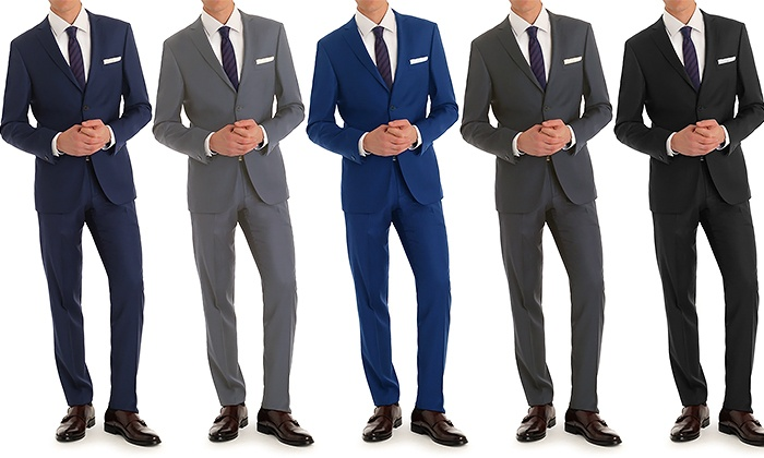 Vincent Moretti Men's Slim Fit 2-Piece Suit