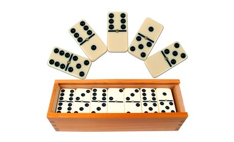 Premium Dominoes: Double-Six or Double-Nine (Set of 28 or 55)