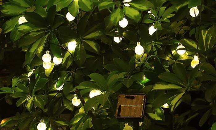 Luci led da giardino ad energia solare groupon