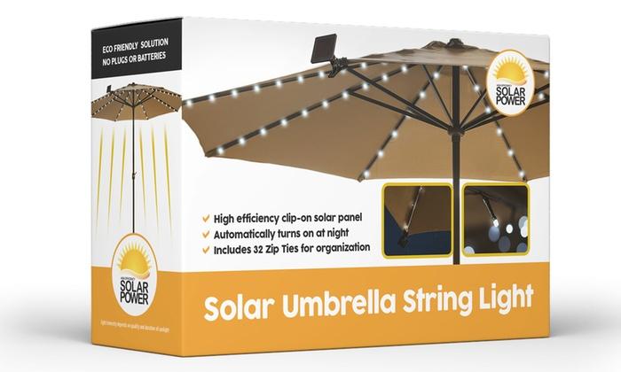 ... Solar Patio Umbrella LED String Lights (1 , 2 , Or 3
