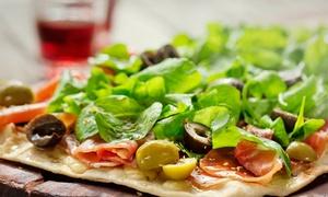 1893 Pizza a la parrilla: Empanadas + pizza a la parrilla y cervezas para dos o cuatro en 1893 Pizza a la Parrilla