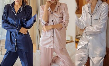 Satin Pyjama Set with Buttons