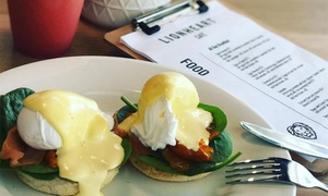 Lionheart Cafe: All-Day Breakfast and Large Coffee for One ($12), Two ($24) or Four ($48) People at Lionheart Cafe (Up to $77.20 Value)