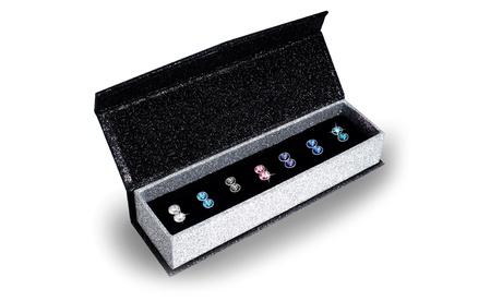 Pack de 7 pendientes Luna elaborados con cristales austriacos