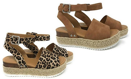 $24 for One Pair of Women's Platform Sandals