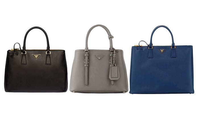981e1ef6317ab4 Up To 46% Off on Prada Saffiano Leather Tote Bags | Groupon Goods