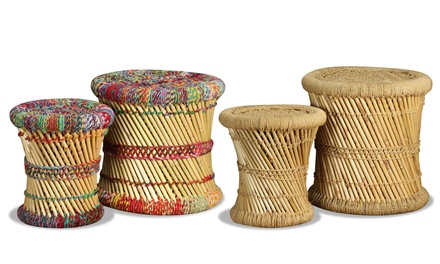 Set di sgabelli in bambù
