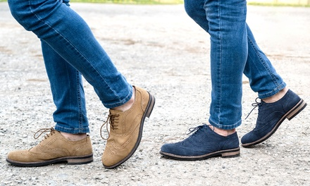 Redfoot Water-Resistant Suede Brogues