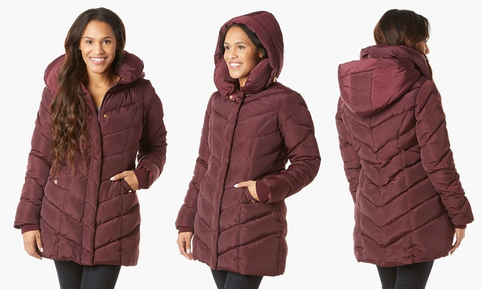 9542196bde Steve Madden Women s Chevron Coat. (Size L)