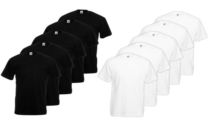 Pack 10 T-Shirt Fruit of The Loom disponibili in vari colori e taglie da 19,90 €