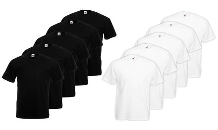 10 T-shirt Fruit Of The Loom: Grigio melange / L