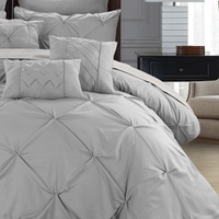 Deals on Sabrina Pinch Pleated Ruffled Comforter w/Sheets Set 8 or 10-Pc.