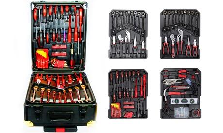 Juego de herramientas Swiss Kraft Limited Edition bañadas en cromo vanadio de 256 y 356 piezas