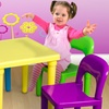 Kids' Table Set with 4 Chairs