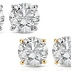 1.20 CTW Diamond Studs in 14K White or Yellow Gold by Bliss Diamond