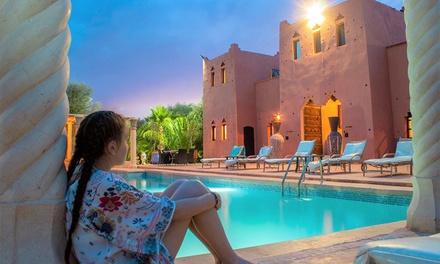 Marrakech: habitación doble o triple con MP y opción a traslado y paseo a camello para 2 o 3 en Kasbah Chwiter