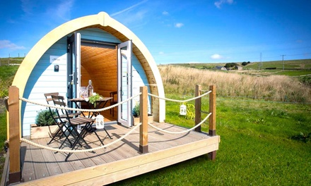 Lancashire: 2 Nights in Glamping Pod for Two or Cottage for Three or Four with Bottle of Wine at Rossendale Holidays