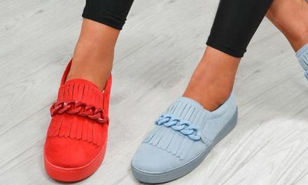 Women's Slip-On Chain Sneakers