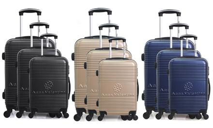 Set di 3 valigie Anna Valentina
