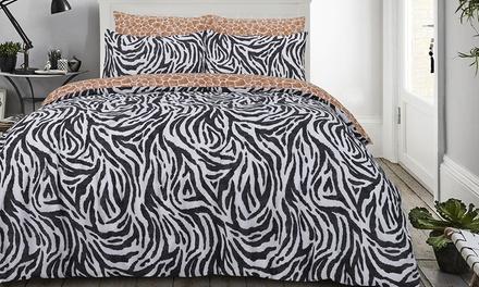 Set de funda nórdica Animal Print con 1 o 2 fundas de almohada