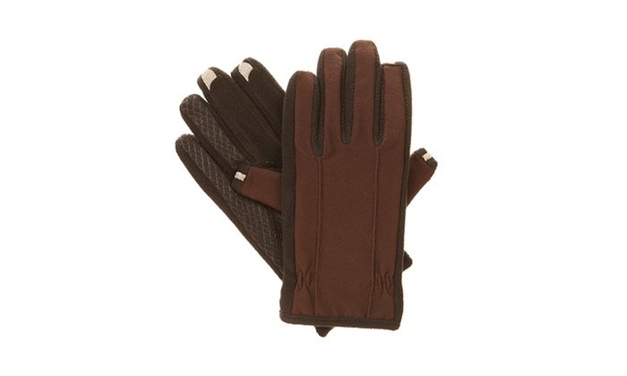 Isotoner SmarTouch Touchscreen Fleece Gloves: Isotoner Men's XL SmarTouch Touchscreen Fleece Gloves