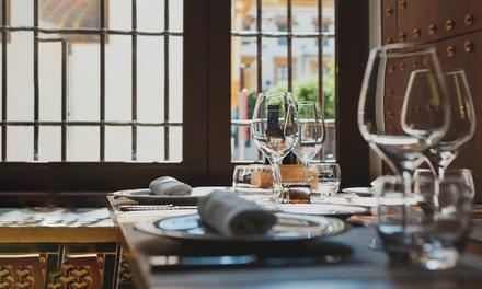 Menú degustación para 2 personas con 3 platos, postre, bebida u opción a maridaje desde 49,95 € en Rincones del Marqués