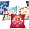 Light-Up LED Christmas Linen Cover with or without Pillow Insert