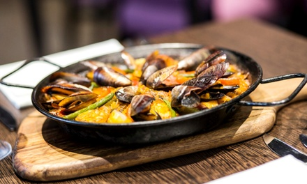 Tapas and Paella with Wine for Up to Six at Amantia