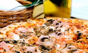 Misty Nights Bar & Grill: $17 for Pizza and Beer at Misty Nights Bar & Grill ($34 Value)