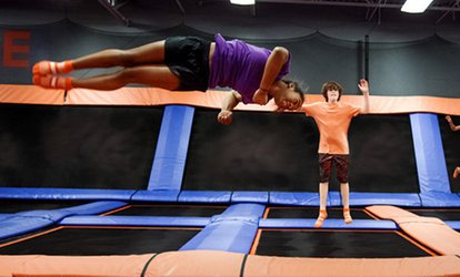 image for 60- or 90-Minute Jump Passes for Two or GLOW Birthday Package at Sky Zone Dorval (Up to 53% Off)