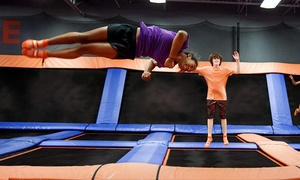 Sky Zone Dorval: 60- or 90-Minute Jump Passes for Two or GLOW Birthday Package at Sky Zone Dorval (Up to 53% Off)