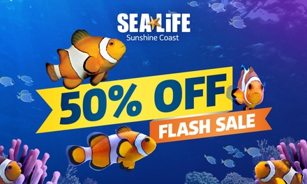 SEA LIFE Sunshine Coast: Child  ($14.50) or Adult ($21) Entry (Up to $42 Value) - Valid till 31st May 2021