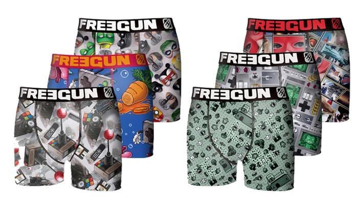 6 Gamer Lot Freegun De Boxers En MicrofibreGroupon Homme hrsQdCBotx