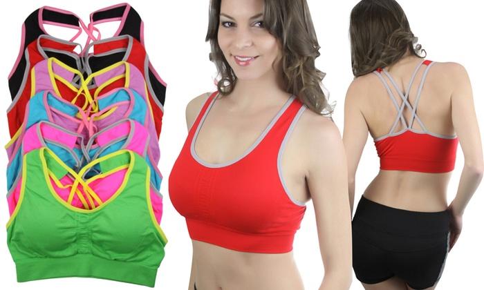 Women's Seamless Padded Sports Bra (6-Pack)