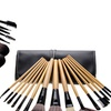 Bliss and Grace Make-Up Brushes with Vegan Leather Case (15-Piece)