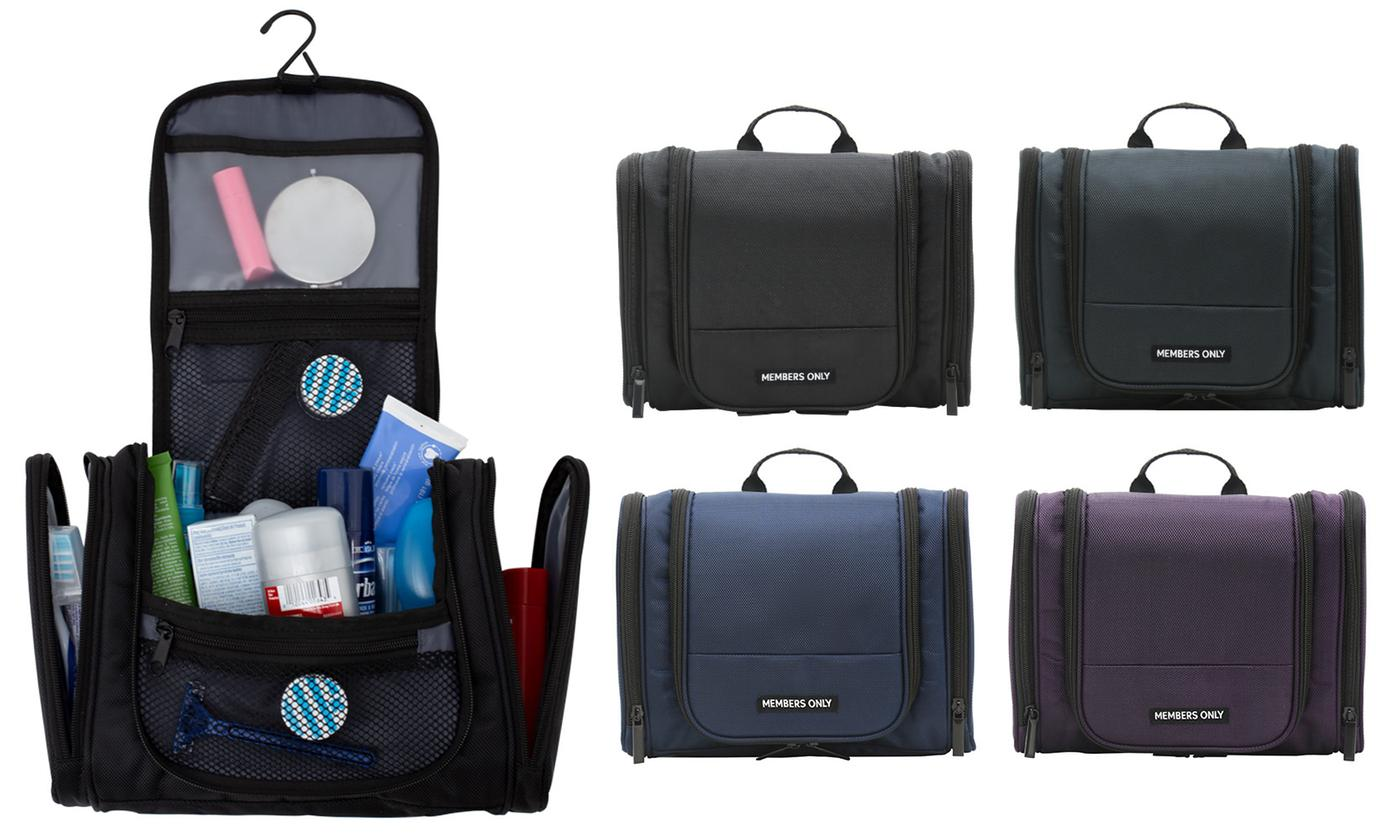 Members Only Hanging Travel Toiletry Bag