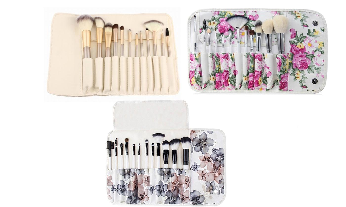 12-Piece Professional Makeup Brush Set with Pouch