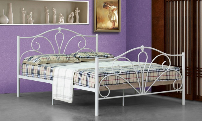 Brava Metal Bedframe with Optional Mattress