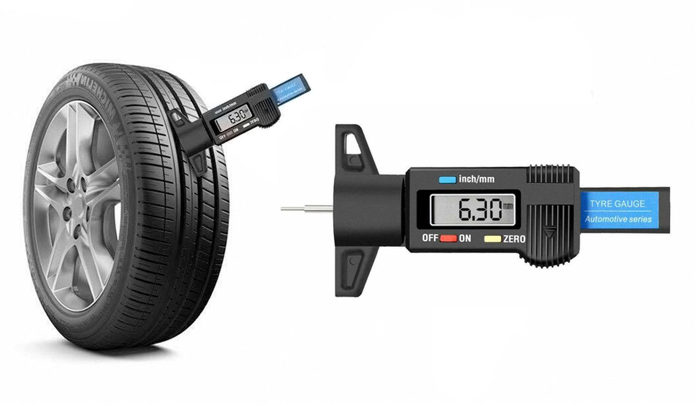 One, Two or Three Digital Tyre Tread Depth Gauges