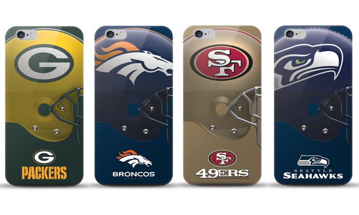 check out ad62d 98874 iPhone 7 Plus NFL Logo On Helmet TPU Gel Case with Tempered Glass ...