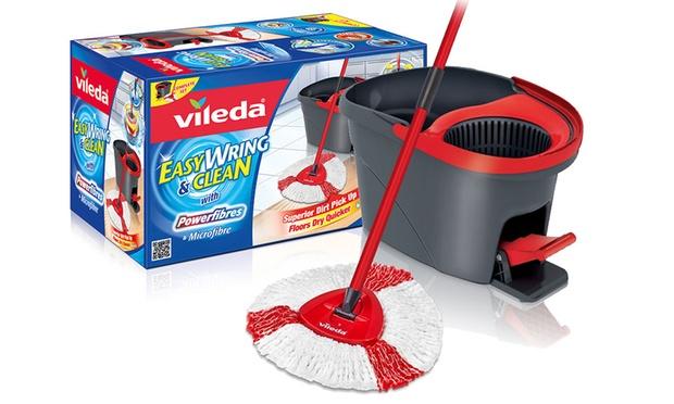Vileda Wring Spin Mop Cleaning Bundle Groupon