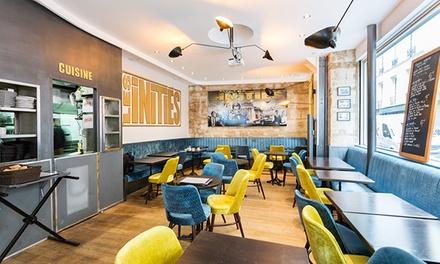 Repas découverte en 3 services pour 2 personnes à 35 € au restaurant le Café des Initiés