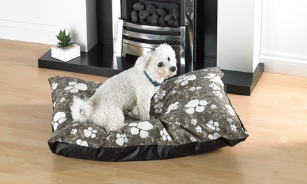 Large Dog Bed with Removable and Washable Zipped Cover in Choice of Colour