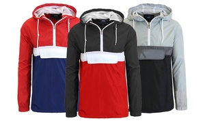 Spire By Galaxy Men's Hooded Windbreaker Jacket