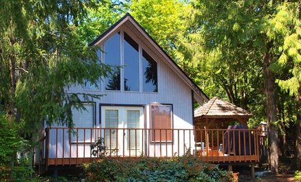 1-, 2-, or 3-Night Stay for Two (Sunday-Thursday Only) in a Hot-Tub Cottage at Robin Hood Village Resort in Union, WA